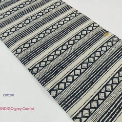 Indigo Gray Combi Cotton Fabric