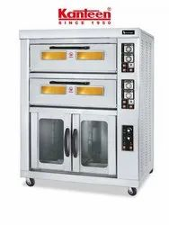 Double Deck Electric Oven with 12 Tray Proofer