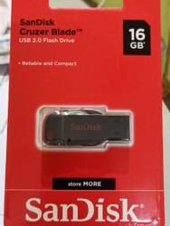 16 Gb Sandisk Flash Drive, For Data Storage