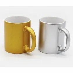 Promotional Golden & Silver Color Coffee Mug