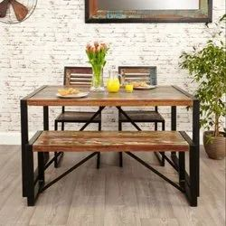 cafe furniture Dimensions: 180*90*75cm Restaurant Dining Set, Seating Capacity: 6