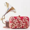 Hand Embroidery Ladies Clutch Bag