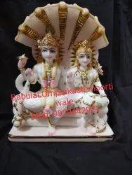 Marble Sheshnag Vishnu Lakshmi Statue