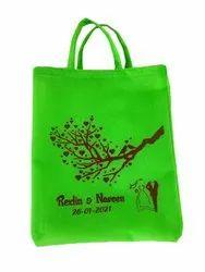 Green Printed Jute Marriage Gift Bag