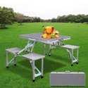 Aluminium Folding Picnic Table With Umbrella