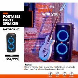 2.0 Black JBL Partybox 100 Portable Party Speaker