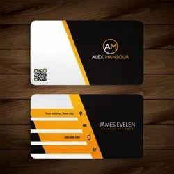 Digital Texture Paper Visiting Card, Size: 8.5x5.4 Cm