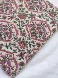 Hand Block Printed Cotton Suit Fabric