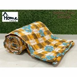 Check Printed Double Bed AC Dohar Blanket