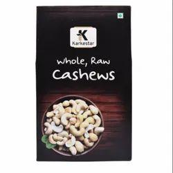 Raw Natural Karkestar Cashews, Packaging Size: 250g