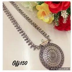 Oxidised Long Necklace