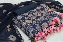 Designer Cotton Fabric Printed Suit