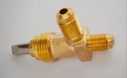 GP 1/4 Flare-1/4 Flare Brass Angle Valve