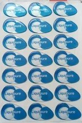 Epoxy Self Adhesive Dome Sticker, Packaging Type: Packet