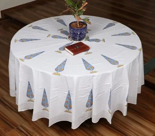 Vht Cotton Round Table Covers Size, Round Table Cover