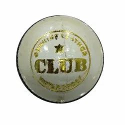 Club  White Leather Cricket Ball