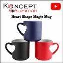 Sublimation Heart Cut Magic Mugs