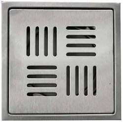 Stainless Steel Bathroom Drain Floor Jali, MATT Finish, Size 6 x 6