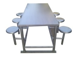 Rectangular Stainless Steel Dining Table, For Restaurant, Size: 6 X 2 Feet(table Top)