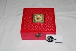 Square Red Multipurpose Wooden Box, For Storage