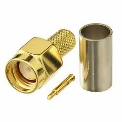 SMA Male Crimp Coax Connector For LMR400, RG213, LMR 400UF Cable
