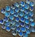 100% Natural Rainbow Moonstone Cabochon, Handmade 7mm Round Moonstone Gemstone, Eye Clean Moonstone