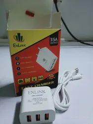 Travel White 3.5 Amp Mobile Charger Adapter, 5 V