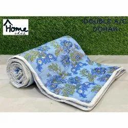 Sky Blue  Double Bed AC Dohar Blanket