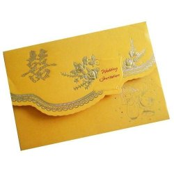 Digital Yellow Wedding Card Printing Service