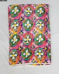 Classic Semi Velvet Satin Silk Digital Print Fabric