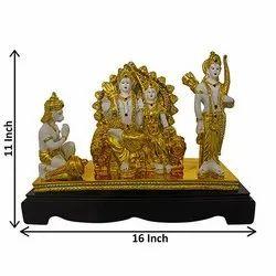 Gold Plated Ram Darbar Idol / Figurine