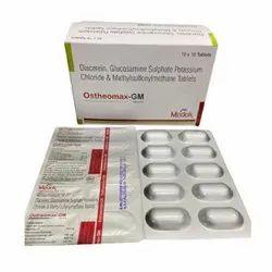 Diacerein Glucosamine Sulphate Potassium Chloride and Methylsufonylmethane Tablets