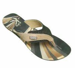 Hawai Black PU Ladies Slipper
