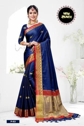 Latest/'s saree for women Black sari SOFT PAITHNI SILK with Jacquard work partywear weeding wear Indian designer saree unstitched blouse