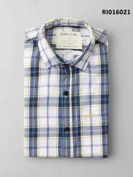 Collar Neck Cotton Men Casual Shirt
