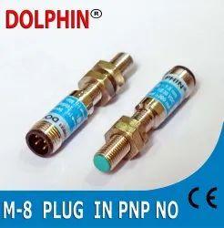 M8 Plug In  Inductive Proximity Sensor PNP No