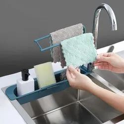 Generic Movable Unit Telescopic Sink Kitchen Home Storage Rack, Size: 39 To 50 Cms