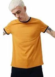 Blue Casual Wear pause stylish T-shirt, Size: Medium