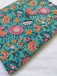 Sea Green Cotton Fabric Running