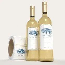 Wine Glass Bottle Label
