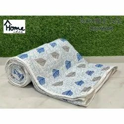 Printed Cotton Double Bed AC Dohar Blanket