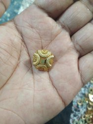 Golden Metal Fancy Zari Button, For Kurti And Suits, Packaging Type: Packet
