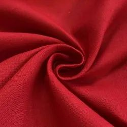 Red 100% Pure Linen Fabric, GSM: 120 GSM