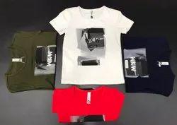 Hoseiry Casual Wear Kids T Shirt, Size: 4-8 Years
