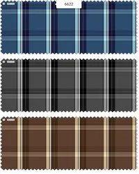 Cotton Twill Check Fabric, Multicolour