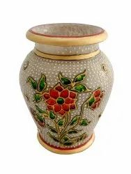 Marble lota pot 4 inches tall