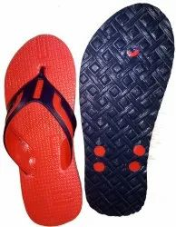 Red Gents Hawai Slippers