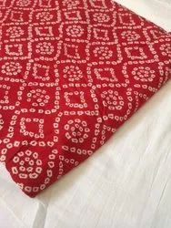 Red Pure Cotton Fabric Suit