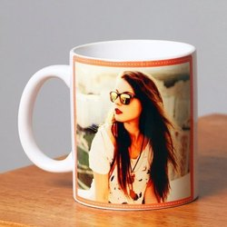 White Photo Printed Ceramic Mug, For Gifting, Capacity: 330 Ml