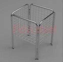 Stainless Steel Matt Silver Pipe Dumper, Rectangular, Size: 18 X 18 X 24